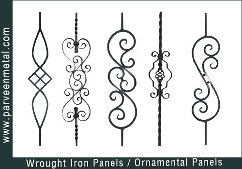Wrought iron components and ornamental hardware